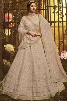 Picture of Outstanding Light Brown Color Georgette Lehenga Choli