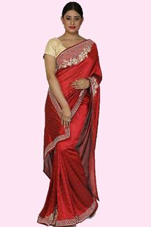 Picture of Pleasant Maroon Colored Festive Wear Art Silk Saree