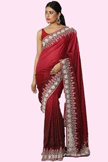 Picture of Preferable Maroon Colored Partywear Silk Saree