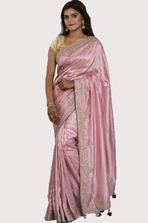 Picture of Appealing Pink Colored Partywear Dolla Silk Saree