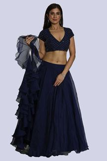Picture of Stunning Blue Colored Partywear Lehenga Choli