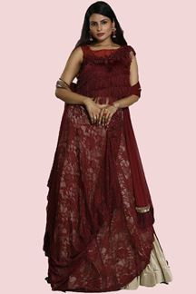 Picture of Desirable Maroon Colored Lehenga Choli