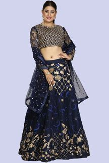 Picture of Gorgeous Blue Colored Designer Lehenga Choli