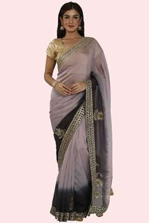 Picture of Exotic Lavender Color Shaded Party Wear Tissue Silk Saree