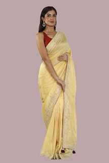 Picture of Graceful Yellow Colored Dolla Silk Saree