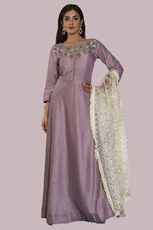Picture of Mauve Color Floor Length Anarkali Suits