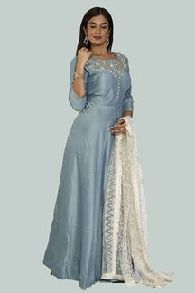 Picture of Blue Color Floor Length Anarkali Suits