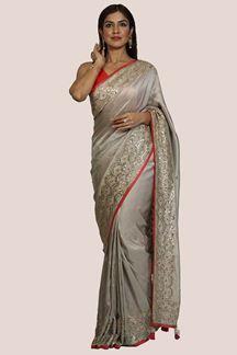 Picture of Sensational Mauve Colored Dolla Silk Saree