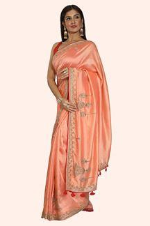 Picture of Desiring Peach Colored Dolla Silk Saree