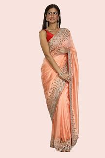 Picture of Graceful Peach Colored Designer Dolla Silk Saree