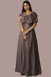 Picture of Appealing Grey Colored Partywear Gown