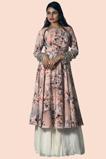 Picture of Groovy Multi-Colored Party Wear Printed Palazzo Suit