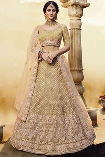 Picture of Soft Net Gota Silk Golden Designer lehenga Choli