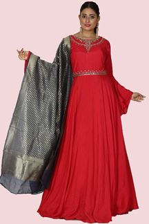 Picture of Entrancing Pink Colored Designer Anarkali Suit