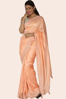 Picture of Adorning Peach Colored Partywear Saree