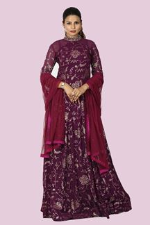 Picture of Demanding Magenta Colored Georgette Anarkali Suit