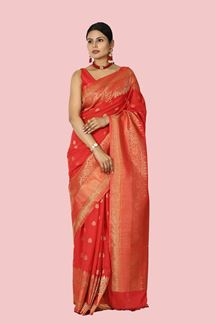 Picture of Excellent Red Colored Festive Wear Art Silk Saree
