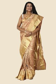 Picture of Marvellous Almond Colored Festive Wear Silk Saree