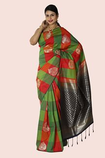 Picture of Adorable Multi-Colored Banarasi Silk Saree