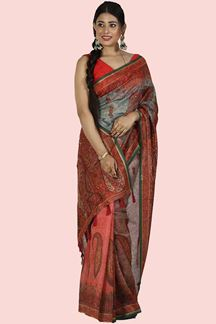 Picture of Blissful Multi-Colored Casual Printed Art Silk Saree