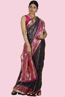 Picture of Purple & Magenta Colored Art Kanjivaram Silk Saree