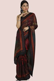 Picture of Glorious Multi- Colored Printed Art Silk Saree