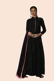 Picture of Ravishing Black Colored Anarkali Suit