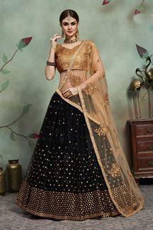 Picture of Smart Black Colored Designer Lehenga Choli