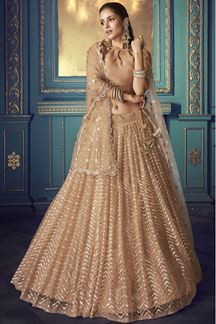 Picture of Stunning Beige colored lehenga choli