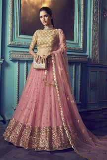 Picture of Stunning Pink colored lehenga choli