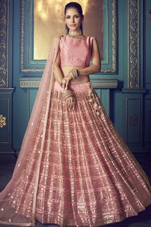 Picture of Stunning beautiful Pink colored lehenga choli