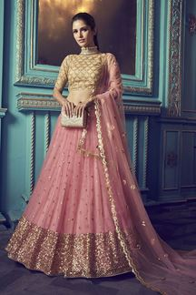 Picture of Beauty of charm reflect through this Pink colored lehenga choli
