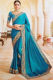 Picture of Splendid Blue Colored Designer Saree