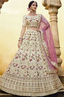 Picture of Off- White Color Georgette Designer lehenga Choli