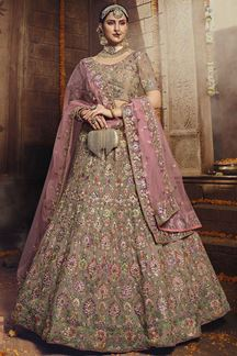 Picture of Light Brown Color Georgette Designer lehenga Choli