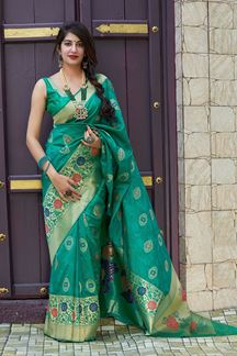 Picture of Engaging Green Colored Designer Saree