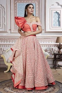 Picture of Keep Stylish with one shoulder Designer Lehenga choli