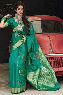 Picture of Charming Green Colored Designer Saree