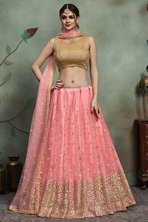 Picture of Amazing Baby Pink Designer Lehenga choli