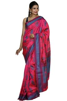 Picture of Dharmavaram Silk Pink Color Colored Designer Saree