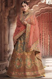 Picture of Lavish Grey Colored Designer Lehenga Choli