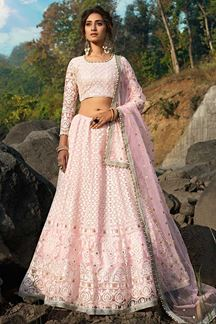 Picture of Designer Fancy Pink Color Lehenga Choli