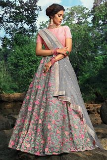 Picture of Subtle Grey Colored Lehenga Choli