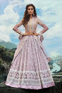 Picture of Stunning Lilac Colored Festive Wear Lehenga Choli