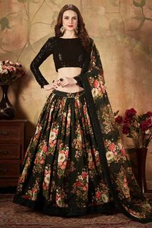 Picture of Sizzling Black Colored Lehenga Choli