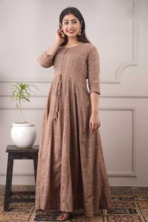 Picture of Party wear Designer Light brown Colored Kurti