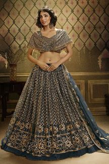 Picture of Grooving Rama Green Colored Lehenga Choli