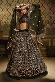 Picture of Sizzling Looking Black Colored Lehenga Choli