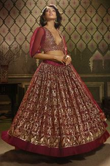 Picture of Trendy  Maroon Colored Lehenga Choli
