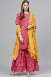 Picture of Bold Rani Pink Designer Readymade Suit